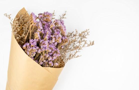 Mooie droogbloemen gaan lang mee