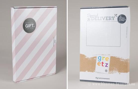 Twee doosjes brievenbusbloemen