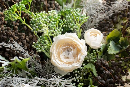 Droogbloemen online bestellen met takken en verse bloemen in een mix